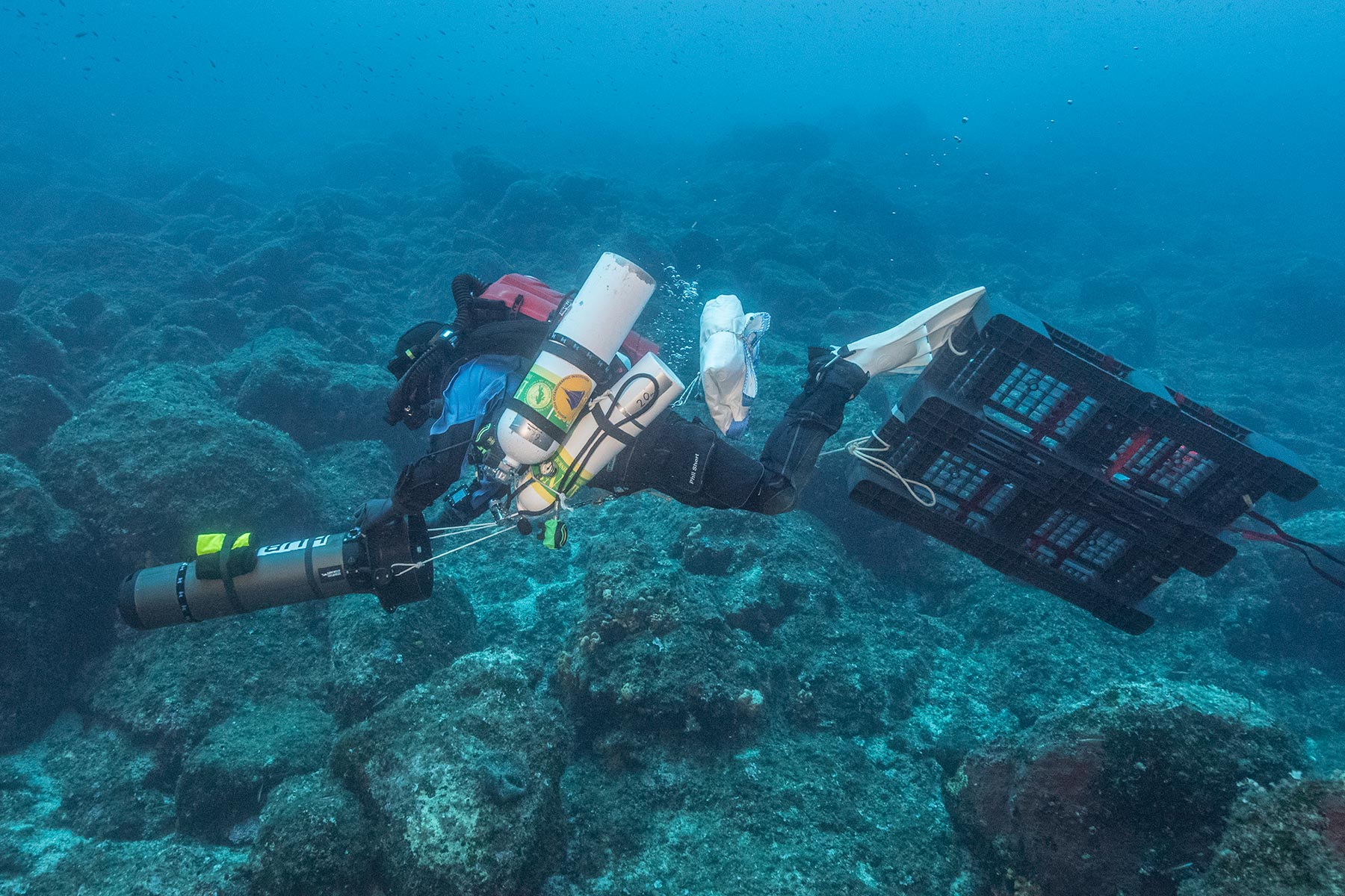 Rigging Dive Antikythera shipwreck